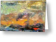 Abstract Landscape II Greeting Card