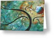 Abstract Landscape Painting Digital Texture Art By Megan Duncanson Greeting Card