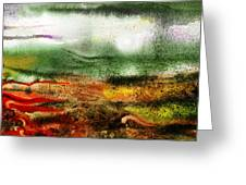 Abstract Landscape Sunrise Sunset Greeting Card