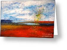 Abstract Lanscape Greeting Card