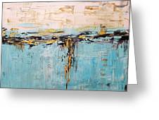 Abstract Large Painting Greeting Card