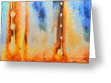 Abstract Lift Off  Greeting Card by Pixel Chimp