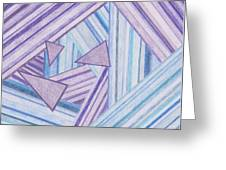 Abstract Lines Greeting Card