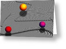 Abstract - Lines - That's A Moire Greeting Card