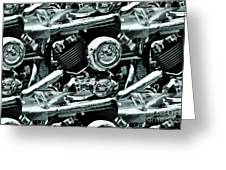 Abstract Motor Bike - Doc Braham - All Rights Reserved Greeting Card