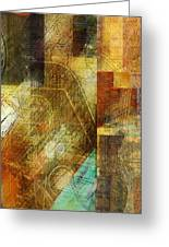 Abstract Music Shop Window One Greeting Card