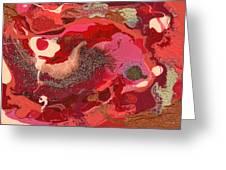 Abstract - Nail Polish - Love Greeting Card