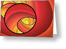 Abstract Network Greeting Card