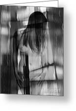 Abstract  Nude Woman 4 Greeting Card