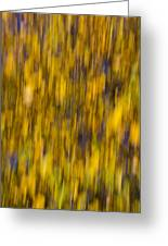 Abstract Of Autumn Gold Greeting Card