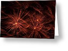 Abstract Of Fireworks On Black Greeting Card