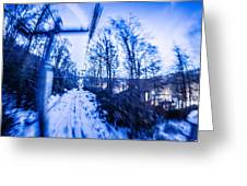 Abstract On A Ski Lift Greeting Card
