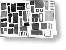 Abstract Open Windows Greeting Card