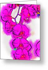 Abstract Orchid 1 Greeting Card