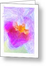Abstract Orchid Pastel Greeting Card by Antony McAulay