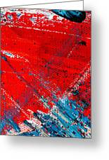 Abstract Original Artwork One Hundred Phoenixes Untitled Number Five Greeting Card