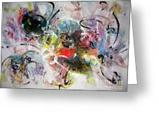 Abstract Painting Colourful Art Greeting Card
