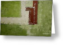 Abstract Painting Green 13013 Greeting Card