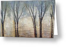 Abstract Painting Morning Fog Greeting Card