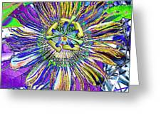 Abstract Passion Flower Greeting Card