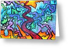 Abstract Paths Greeting Card