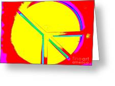 Abstract Peace Greeting Card