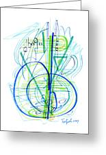 Abstract Pen Drawing Fifty-eight Greeting Card