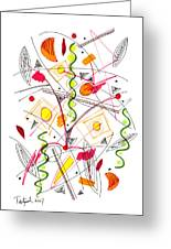 Abstract Pen Drawing Fifty-five Greeting Card