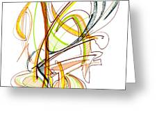 Abstract Pen Drawing Fifty-nine Greeting Card