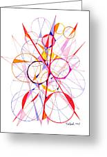 Abstract Pen Drawing Fifty-one Greeting Card