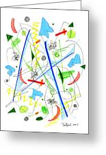 Abstract Pen Drawing Fifty-three Greeting Card