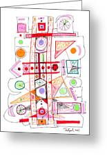 Abstract Pen Drawing Fifty-two Greeting Card