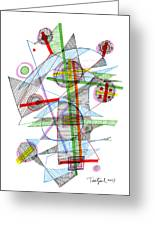 Abstract Pen Drawing Forty-nine Greeting Card