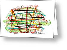 Abstract Pen Drawing Forty-seven Greeting Card