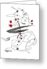 Abstract Pen Drawing Seventy-eight Greeting Card
