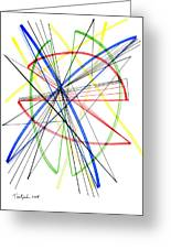 Abstract Pen Drawing Seventy-five Greeting Card
