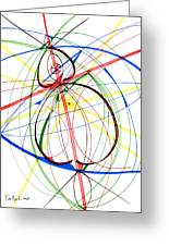 Abstract Pen Drawing Seventy-four Greeting Card