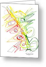Abstract Pen Drawing Seventy-one Greeting Card