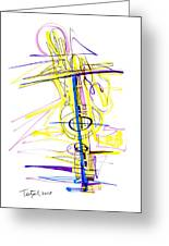 Abstract Pen Drawing Seventy-two Greeting Card