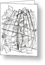 Abstract Pen Drawing Sixty-eight Greeting Card