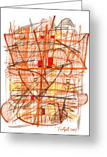 Abstract Pen Drawing Sixty-one Greeting Card