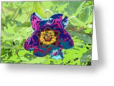 Abstract Peonies Greeting Card