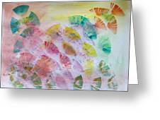 Abstract Petals Greeting Card