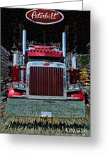 Abstract Peterbilt Greeting Card
