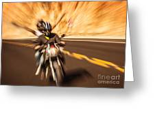 Abstract Photo Of Riders Greeting Card