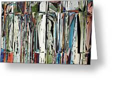 Abstract Piano Keys Greeting Card