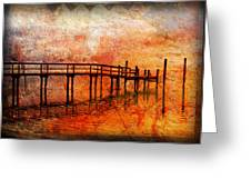 Abstract Pier Greeting Card