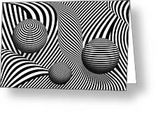 Abstract - Poke Out My Eyes Greeting Card by Mike Savad
