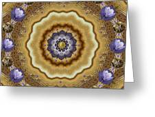 Abstract Pond In Gold Greeting Card