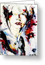 Abstract Portrait  Greeting Card